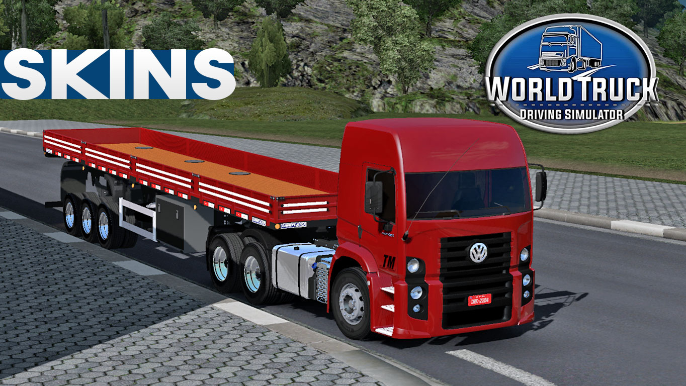 World Truck Driving Simulator Conjunto de Skins VW Constellation + Carreta 2 Eixos (DOWNLOAD)