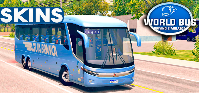 Skins World Bus Driving G7 Águia Branca