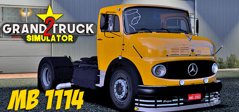 Grand Truck Simulator 2: Revela Detalhes do Interior do MB 1114 CONFIRAM!!