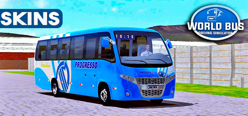 Skins World Bus Driving Volare Viação Progresso