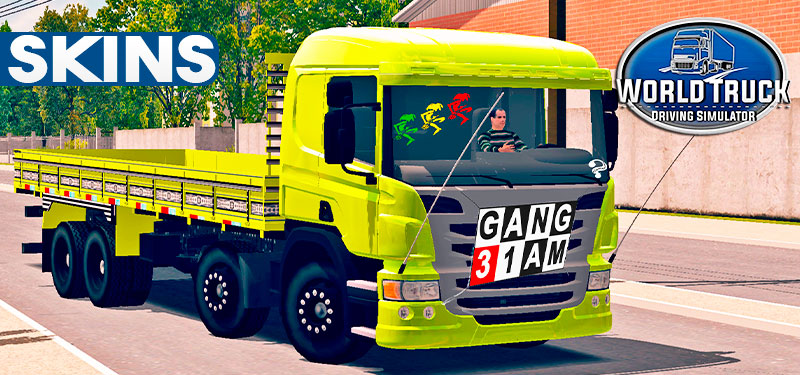 "Skins Scania Pzinha Top Amarela ""QUALIFICADA"""