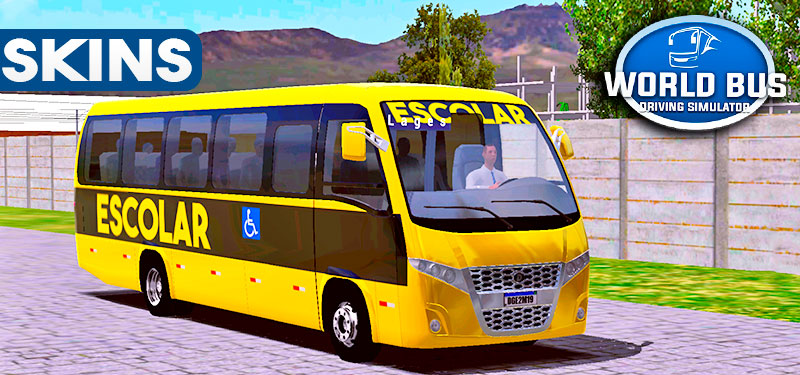 Skins World Bus Driving Volare Escolar
