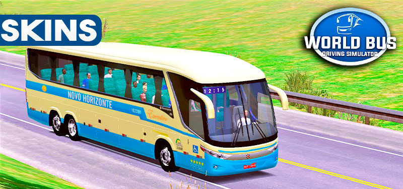 Skins World Bus Driving G7 1200 Novo Horizonte