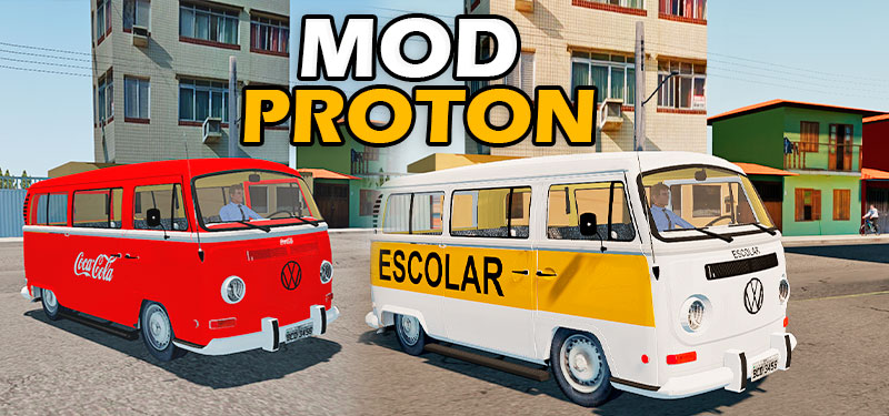 Mod Kombi Com Varias Skins Proton Bus Simulator (DOWNLOAD)